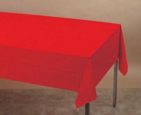 Plastic Tablecover Red