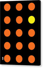 Connect 4 Orange Blue - Canvas Print