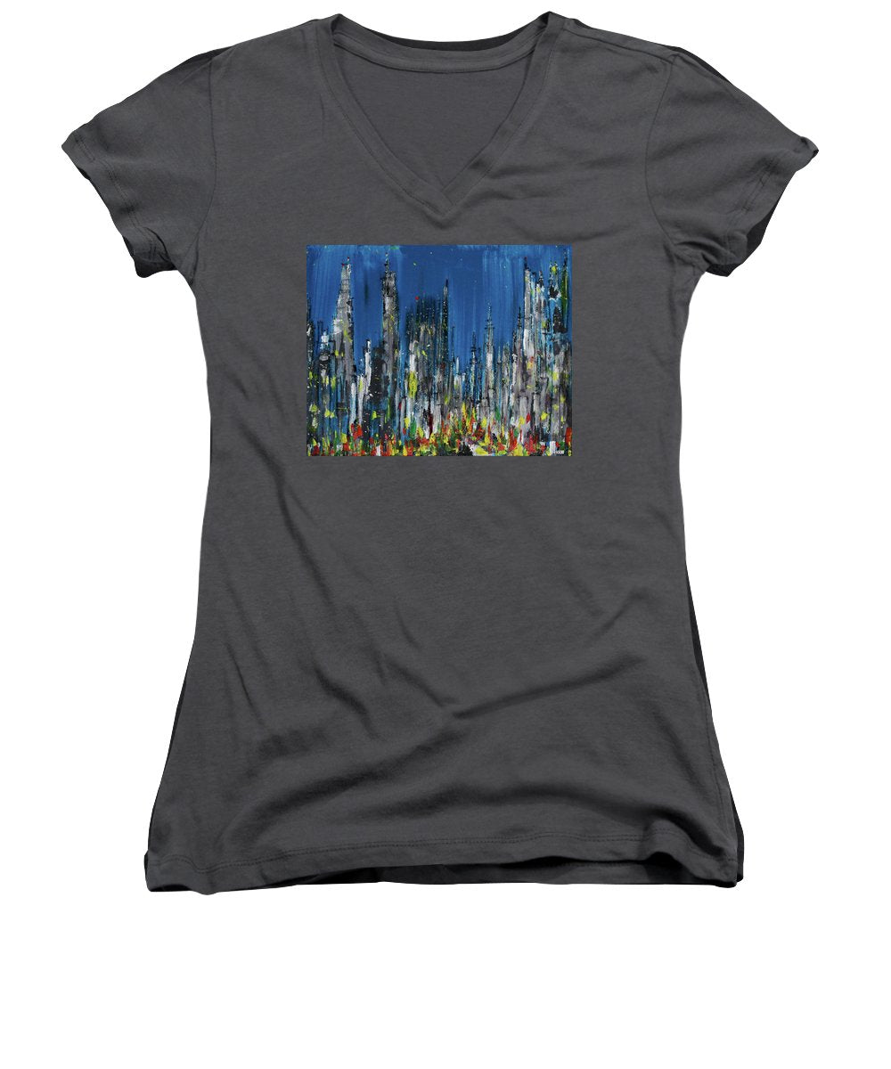 City Of Twilight - Women's V-Neck
