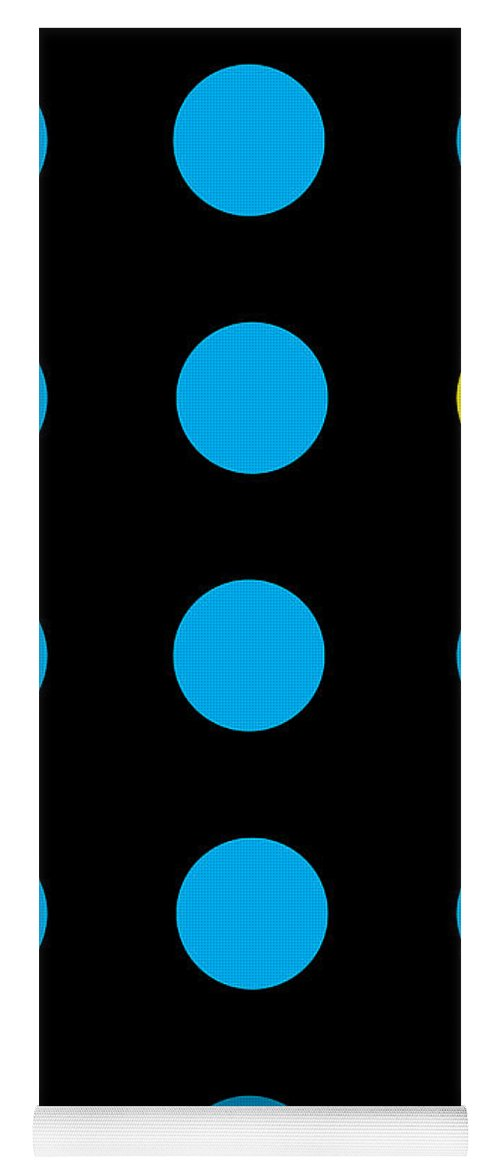 Connect 4 Blue Yellow - Yoga Mat