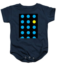 Connect 4 Blue Yellow - Baby Onesie