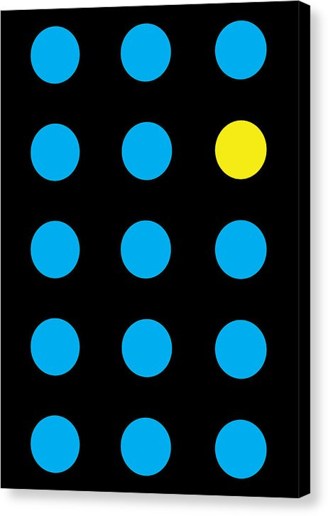 Connect 4 Blue Yellow - Canvas Print