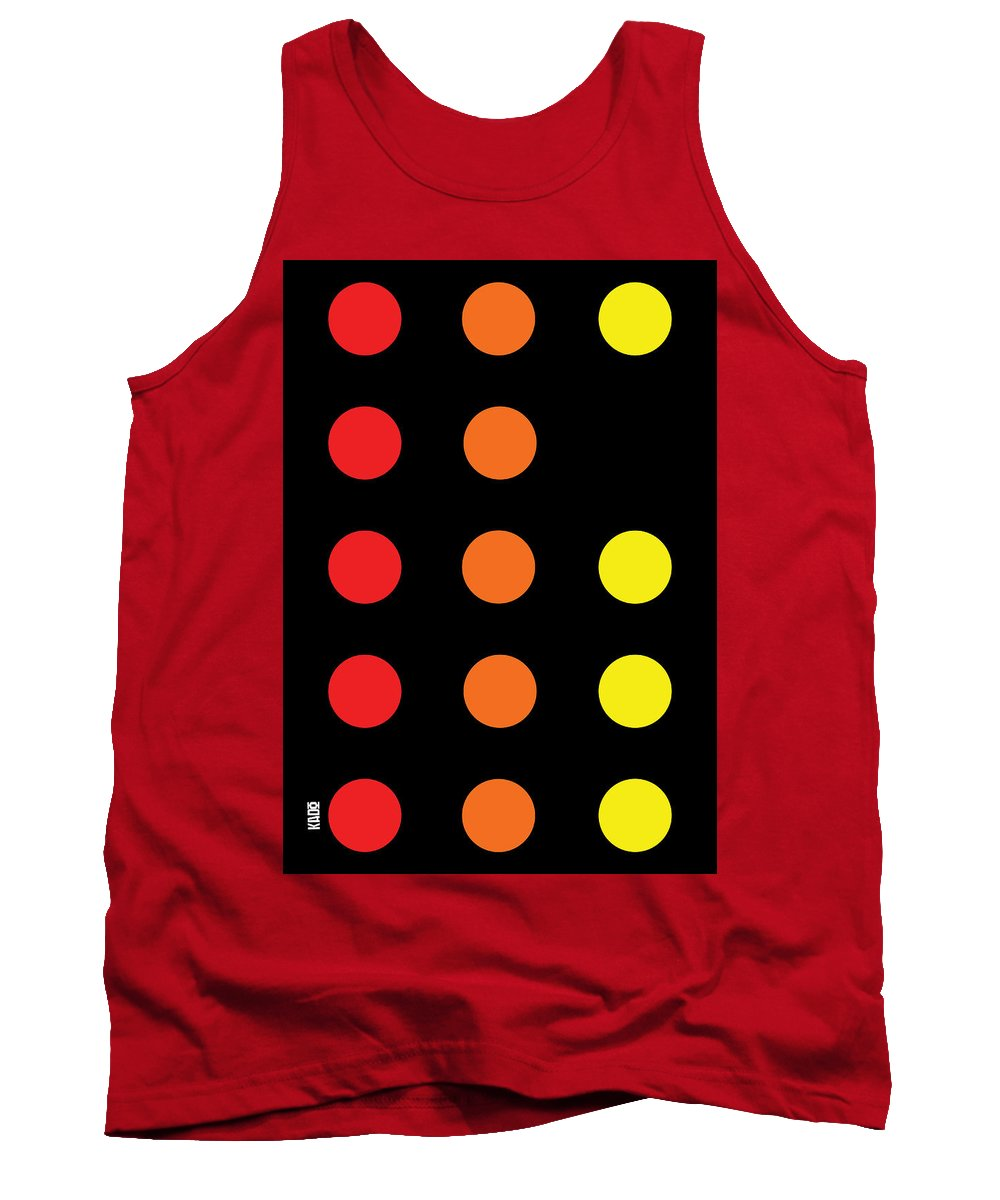 Connect 4 Red Orange Yellow - Tank Top
