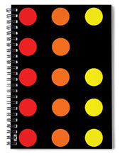 Connect 4 Red Orange Yellow - Spiral Notebook