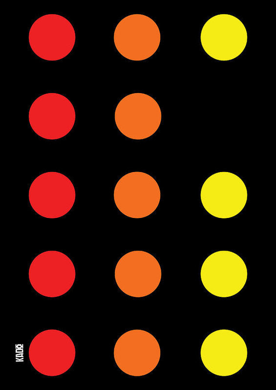 Connect 4 Red Orange Yellow - Art Print