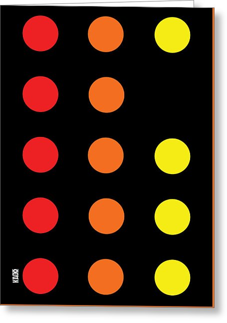 Connect 4 Red Orange Yellow - Greeting Card