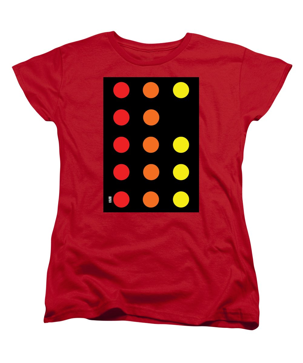 Connect 4 Red Orange Yellow - Women's T-Shirt (Standard Fit)