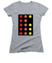 Connect 4 Red Orange Yellow - Women's V-Neck