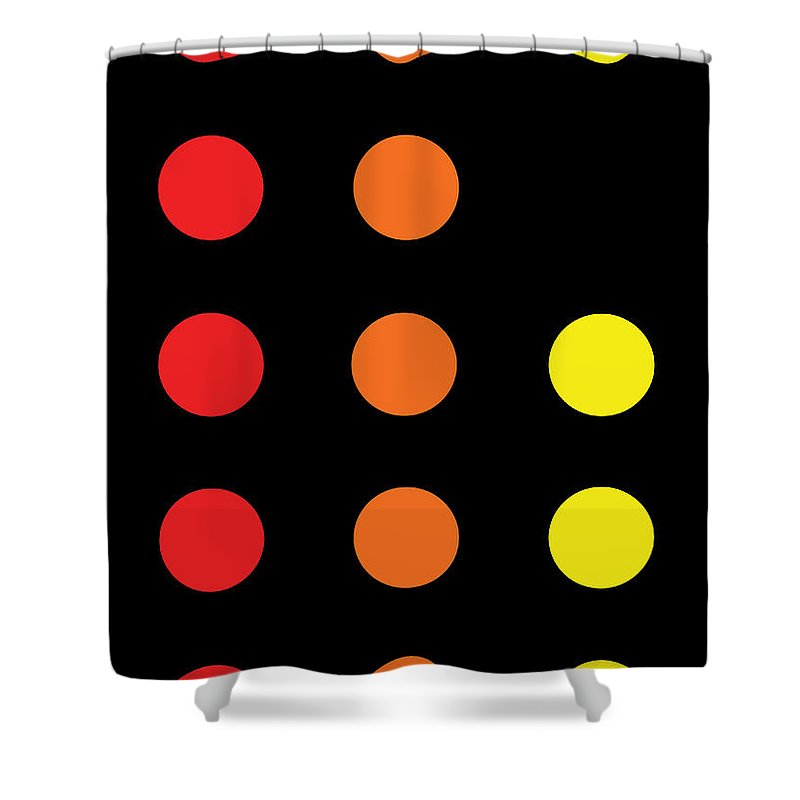 Connect 4 Red Orange Yellow - Shower Curtain