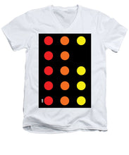 Connect 4 Red Orange Yellow - Men's V-Neck T-Shirt