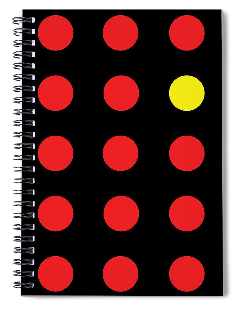 Connect 4 Red Yellow - Spiral Notebook