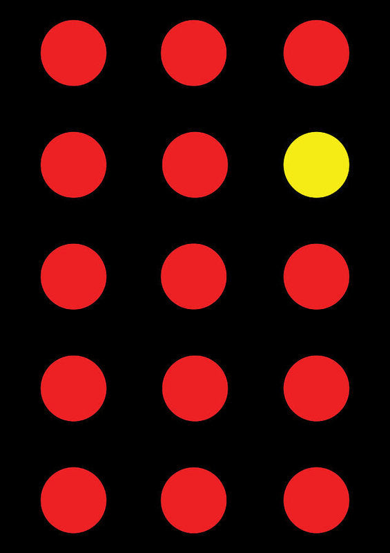 Connect 4 Red Yellow - Art Print