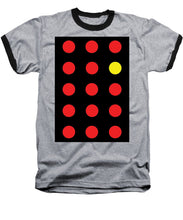 Connect 4 Red Yellow - Baseball T-Shirt