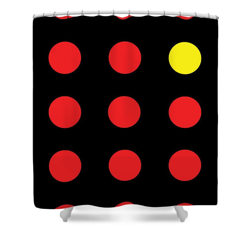 Connect 4 Red Yellow - Shower Curtain