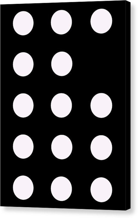 Connect 4 White - Canvas Print