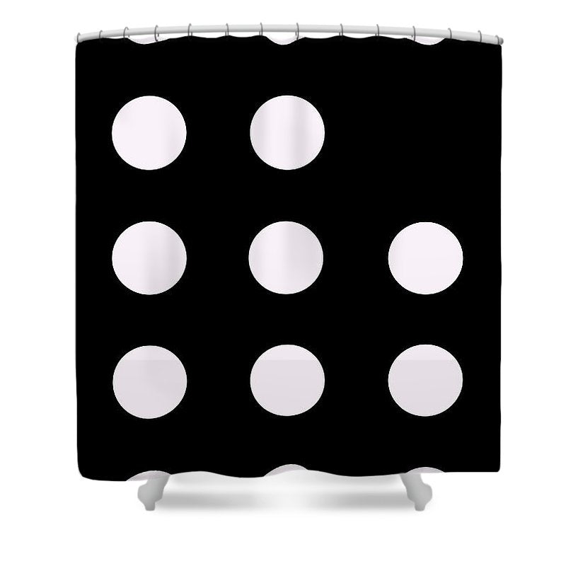 Connect 4 White - Shower Curtain