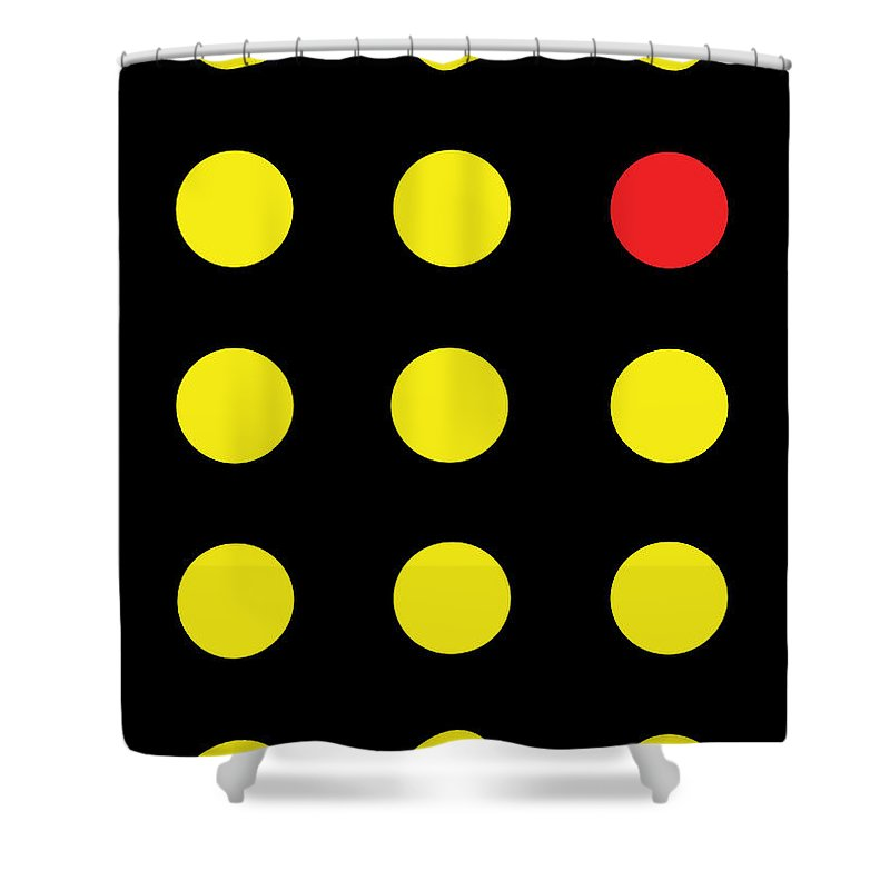 Connect 4 Yellow Red - Shower Curtain
