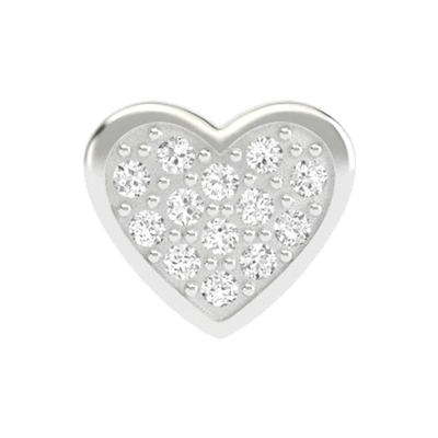 Crystal Filled Heart Charm