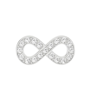 Infinity Charm with Crystals
