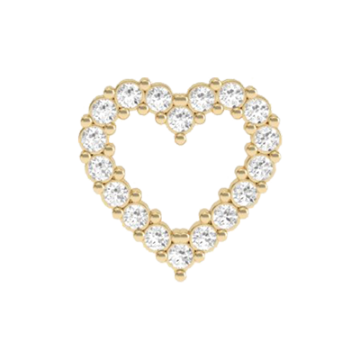 Heart Crystal Outline Charm