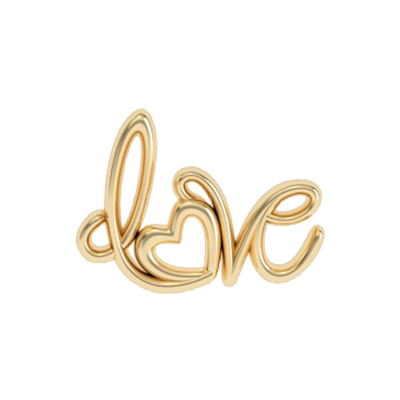 Cursive Love Word Charm