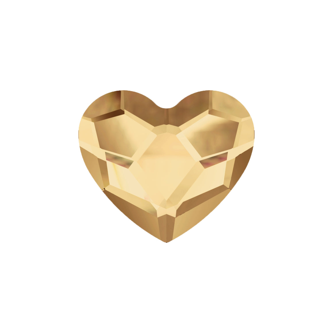 Swarovski Little Love Heart - Golden Shine