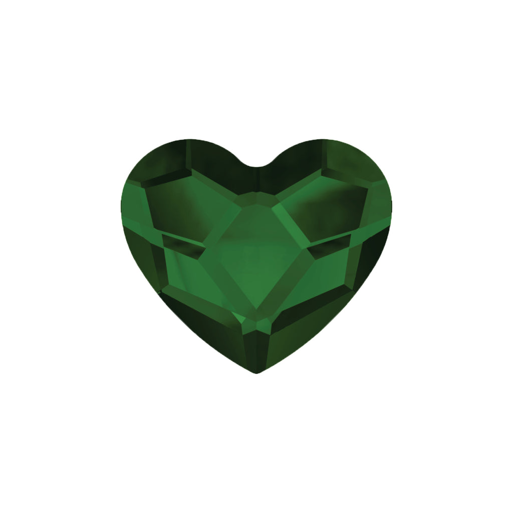 Swarovski Little Love Heart - Forest Green