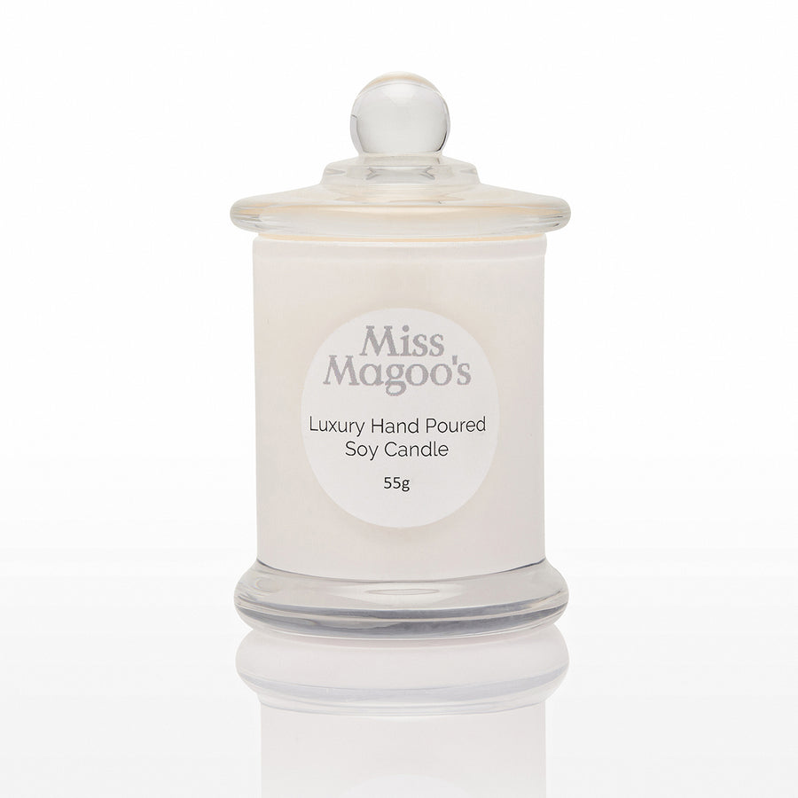 Miss Magoo's Eco Soy Candle Small with optional personalised label