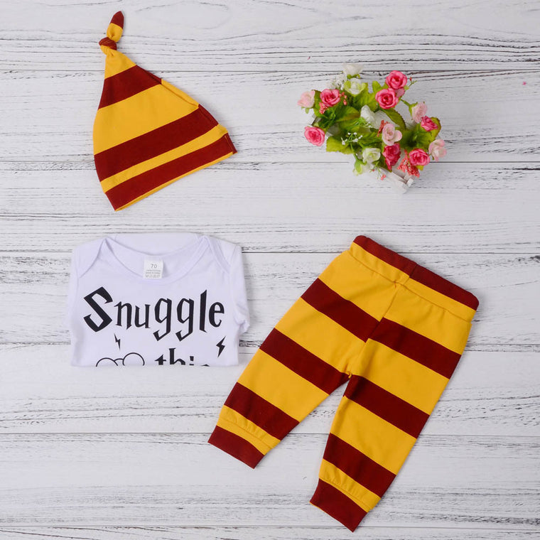 Snuggle this Muggle 3 Piece Romper Set