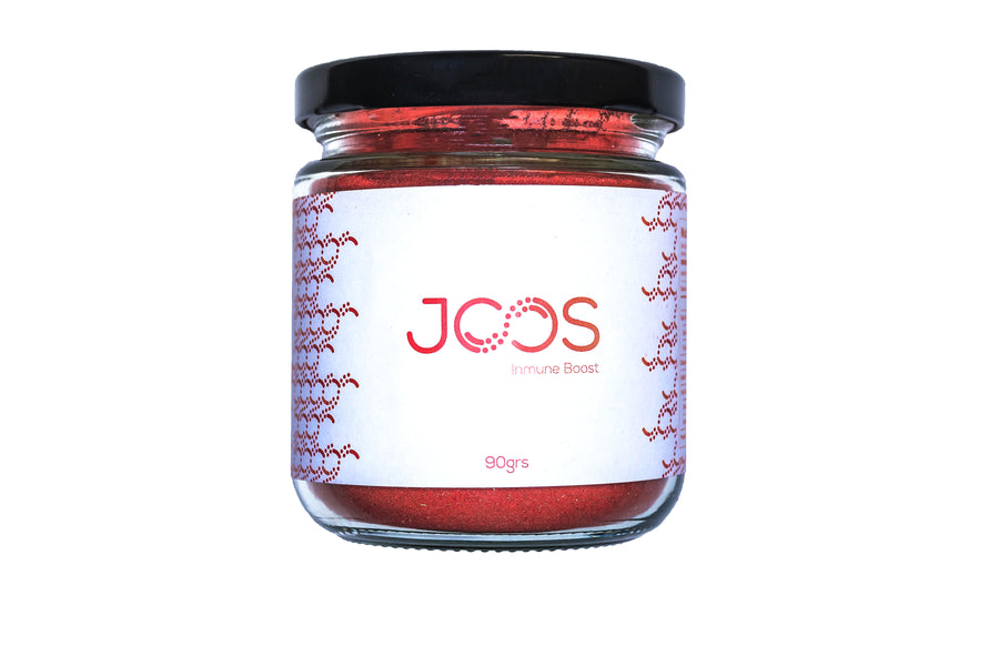 JOOS Immune Boost blend 90 gram jar front view.
