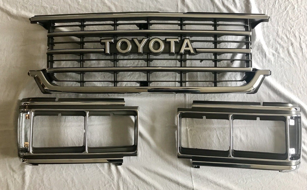Toyota Land Cruiser FJ62  Front Chrome Grille Grill and Bezels 87-90