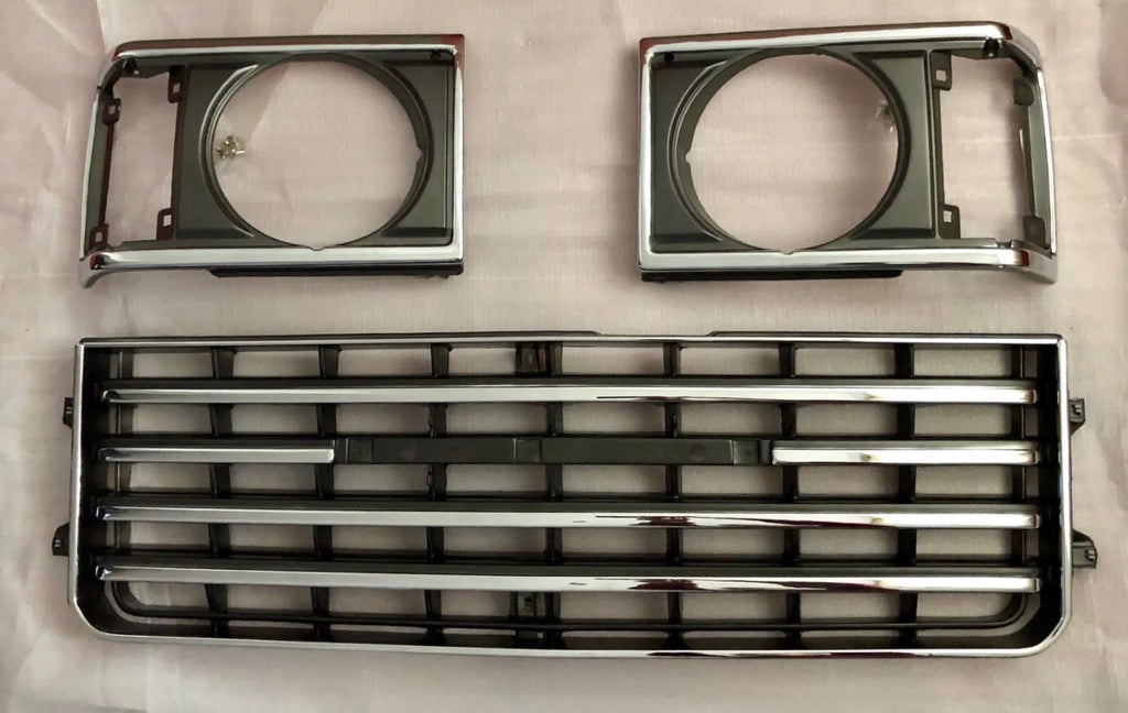 Toyota FJ60 Front Chrome Grille Grill and Bezels 82-87