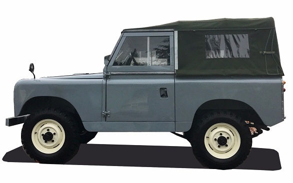"Land Rover Series 88"" Canvas Top with Side Windows"