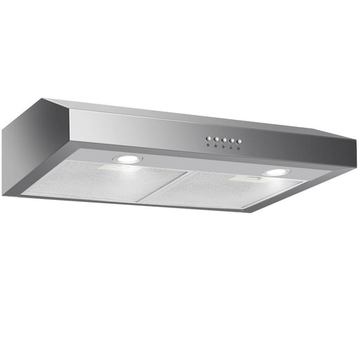 Gymax 30'' Under Cabinet Kitchen Range Hood Stainless Steel w/ LED lights 3-Speed 69W