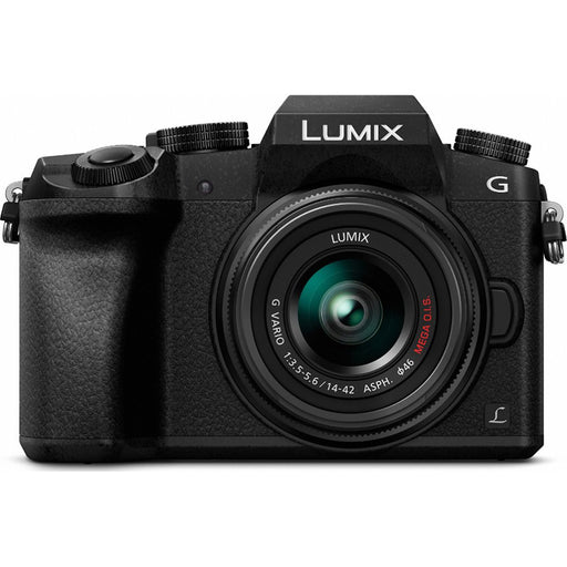 Panasonic LUMIX G7 Interchangeable Lens HD Black DSLM Camera with 14-42mm Lens