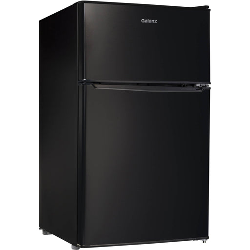 Galanz 3.1 Cu Ft Double Door Mini Fridge GL31BK, Black