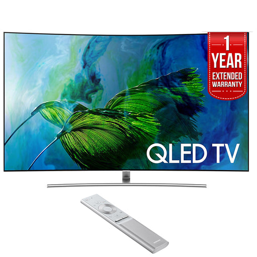 Samsung Curved 65-Inch 4K Ultra HD Smart QLED TV (2017 Model) with 1 Year Extended Warranty