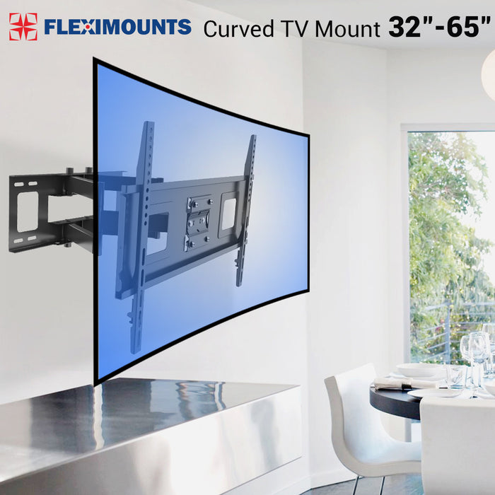 Curved TV Wall Mount Bracket for 32-65 inch Curved TV with Max 600x400mm Wall Mount Plate VESA Size