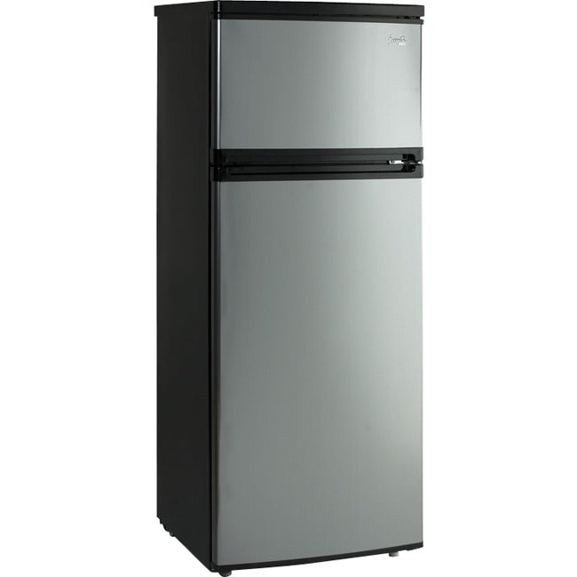 Avanti 7.4 Cu. Ft Top Freezer Apartment Refrigerator in Black/Platinum