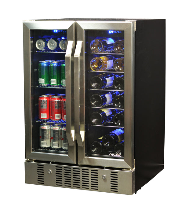 NewAir 18-Bottle & 60-Can Dual Zone Built-in Compressor Wine and Beverage Refrigerator