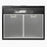 "AKDY 24"" Under Cabinet Black Stainless Steel Push Panel Kitchen Range Hood Cooking Fan w/ Carbon Filters"