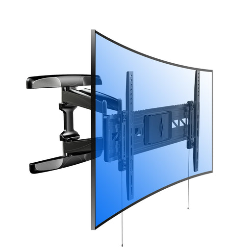 "Curved Panel UHD HD TV Wall Mount Bracket Articulating Arm Swivel & Tilt for 32""-70"" 4K HD TV Screens"