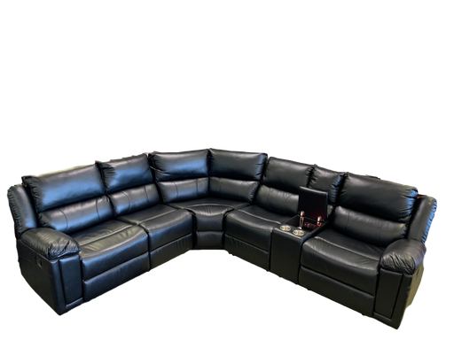 Full Leather Black Sectional