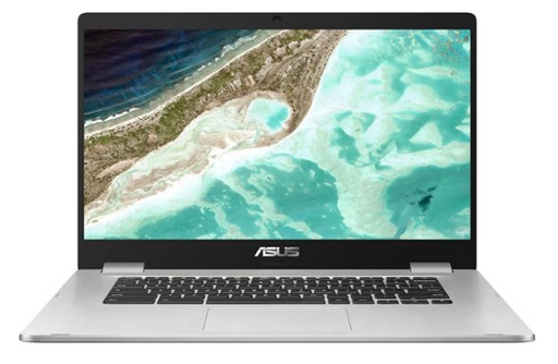 "ASUS - 15.6"" Chromebook - Intel Celeron - 4GB Memory - 64GB eMMC Flash Memory - Silver"