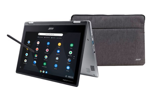 "Acer - Spin 11 2-in-1 11.6"" Touch-Screen Chromebook - Intel Celeron - 4GB Memory - 32GB eMMC Flash Memory - Sparkly Silver"