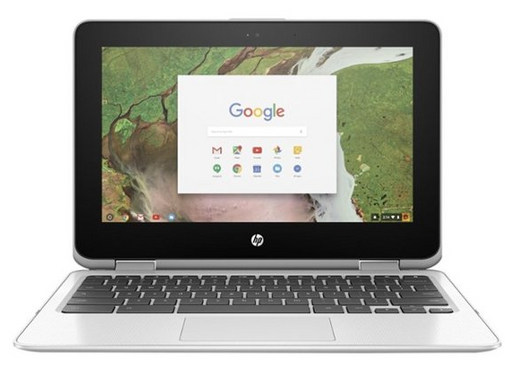 "HP - 2-in-1 11.6"" Touch-Screen Chromebook - Intel Celeron - 4GB Memory - 64GB eMMC Flash Memory - Snow White"