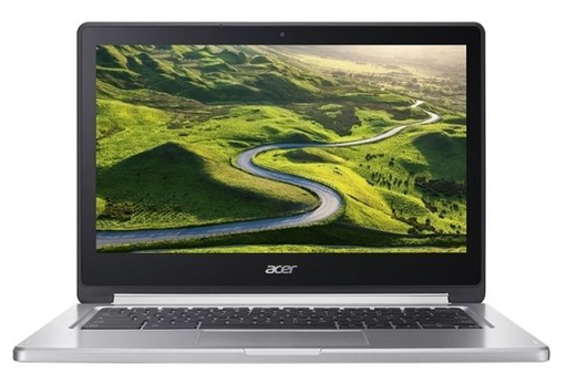 "Back to top Top Acer - R 13 2-in-1 13.3"" Touch-Screen Chromebook - MT8173 - 4GB Memory - 64GB eMMC Flash Memory - Sparkly Silver"