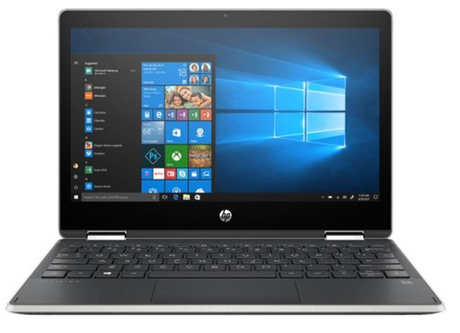 "HP - Pavilion x360 2-in-1 11.6"" Touch-Screen Laptop - Intel Pentium - 4GB Memory - 128GB Solid State Drive - Ash Silver"