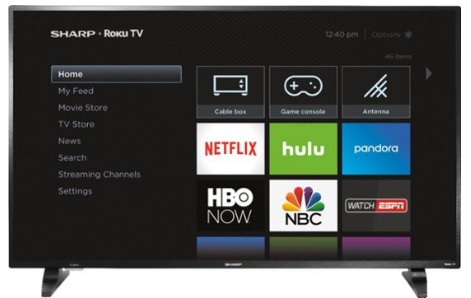 "Sharp - 50"" Class - LED - 1080p - Smart - HDTV Roku TV"