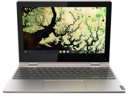 "Lenovo - C340 2-in-1 11.6"" Touch-Screen Chromebook - Intel Celeron - 4GB Memory - 32GB eMMC Flash Memory - Platinum Gray"
